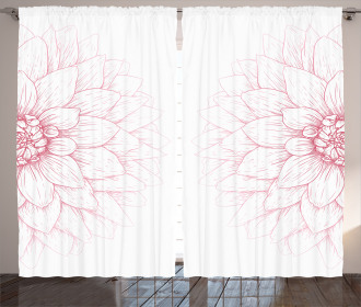 Pink Blossom Flower Curtain