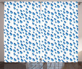 Raindrops Aquatic Fall Curtain