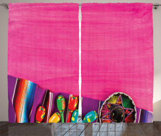Folkloric Serape Blanke Curtain