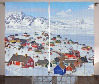 Frozen Winter Design Curtain