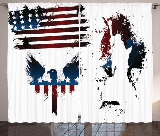 Eagle and Stripe Curtain