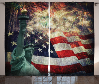 Fireworks 4th of July Curtain