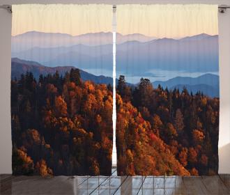 Sunrise Mountains Curtain