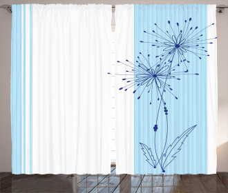 Vertical Long Lines Curtain