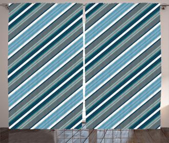 Gray and Blue Diagonal Curtain