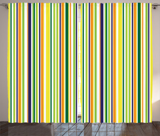 Vibrant Lines Pattern Curtain