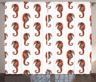 Pattern in Watercolors Curtain
