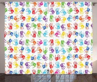 Watercolor Kids Curtain