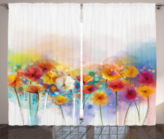 Gerbera Flower Bouquet Curtain