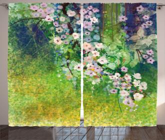 Grass Land Paint Curtain