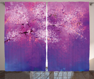 Hazy Romantic Paint Curtain