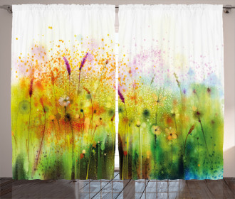 Violet Garden Flower Curtain