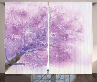 Sakura Tree Springtime Curtain