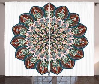 Ethnic Mandala Asian Curtain