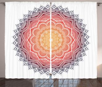 Mandala Orient Heart Curtain