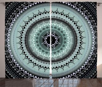 Vintage Mandala Circles Curtain