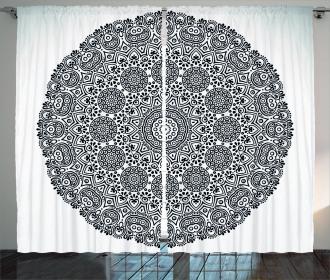 Mandala Lace Art Curtain