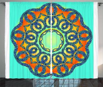 Ethnic Mandala Floral Curtain
