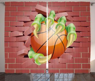 Basketball Cartoon Curtain