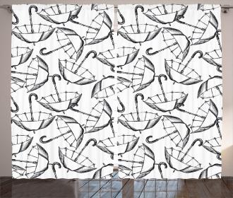 Sketch of Umbrellas Curtain