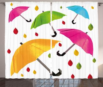 Colorful Umbrellas Leaf Curtain