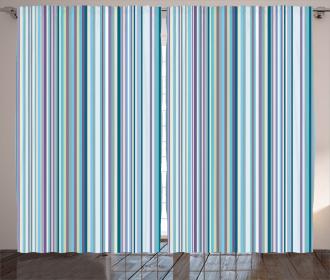 Blue Purple Geometric Curtain