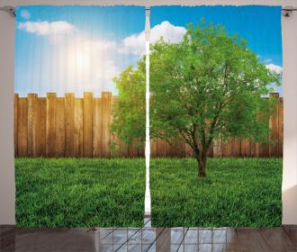 Life Tree Yard Field Curtain