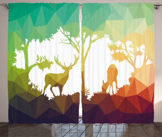 Desert Hunter Graphic Curtain