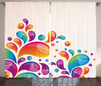 Abstract Raindrops Curtain