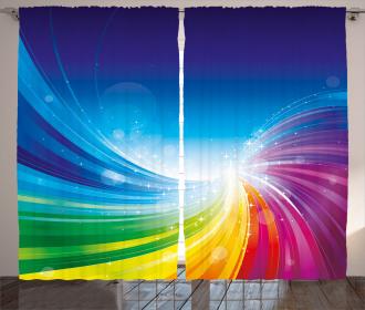 Wavy Funky Pop Art Curtain