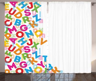 Alphabet Lettering Curtain