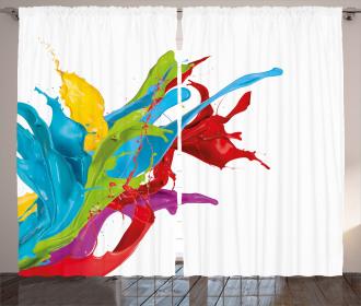 Surreal Digital Paint Curtain