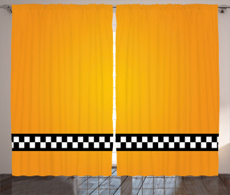 Yellow Cab Artdeco Curtain