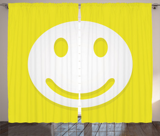 Positive Smiley Face Curtain