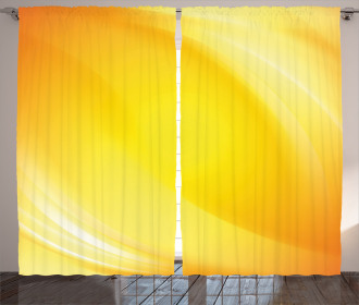 Yellow Lines Ombre Curtain
