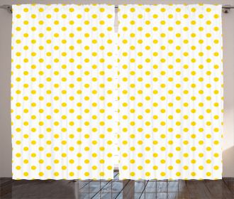 Picnic Yellow Spots Curtain