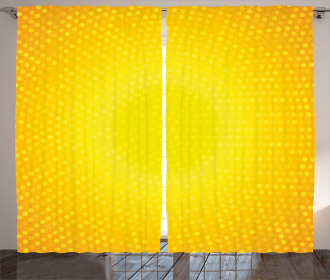 Yellow Ombre Circles Curtain