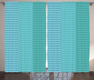 Digital Stripes Lines Curtain
