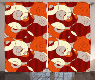 Spiral Abstract Stripes Curtain