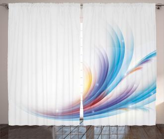 Rainbow Inspired Waves Curtain