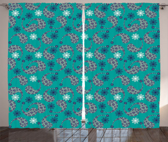 Style Flowers Curtain