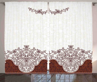 Floral Persian Design Curtain