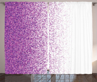 Digital Style Mosaics Curtain