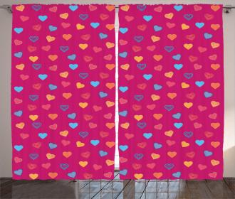 Valentine Days Lovers Curtain
