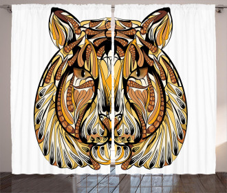 Native American Lion Curtain
