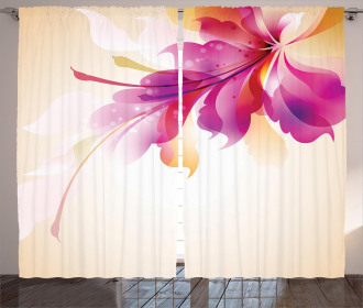 Floral Point and Leaf Curtain
