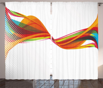 Pixel Details Rainbow Curtain