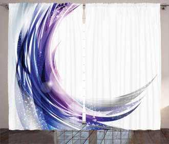 Wave like Ombre Dots Curtain