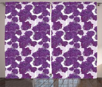 Allium Flower Petals Curtain