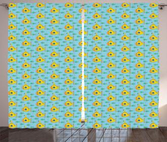 Aqua Art Fish Curtain